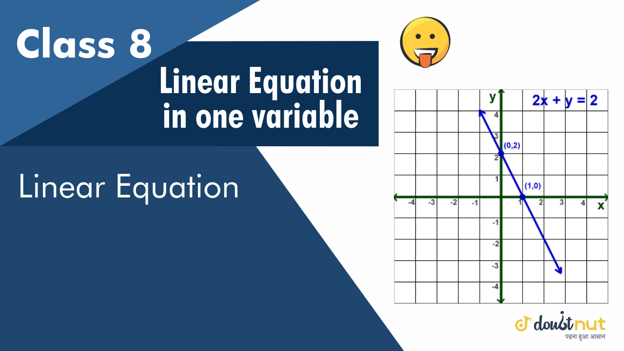 Linear Equation: an equation involving only linear polynomials is called a linear equation