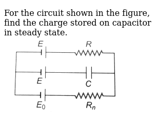 For the circuit shown in the figure, find the charge stored on capacitor in steady state.