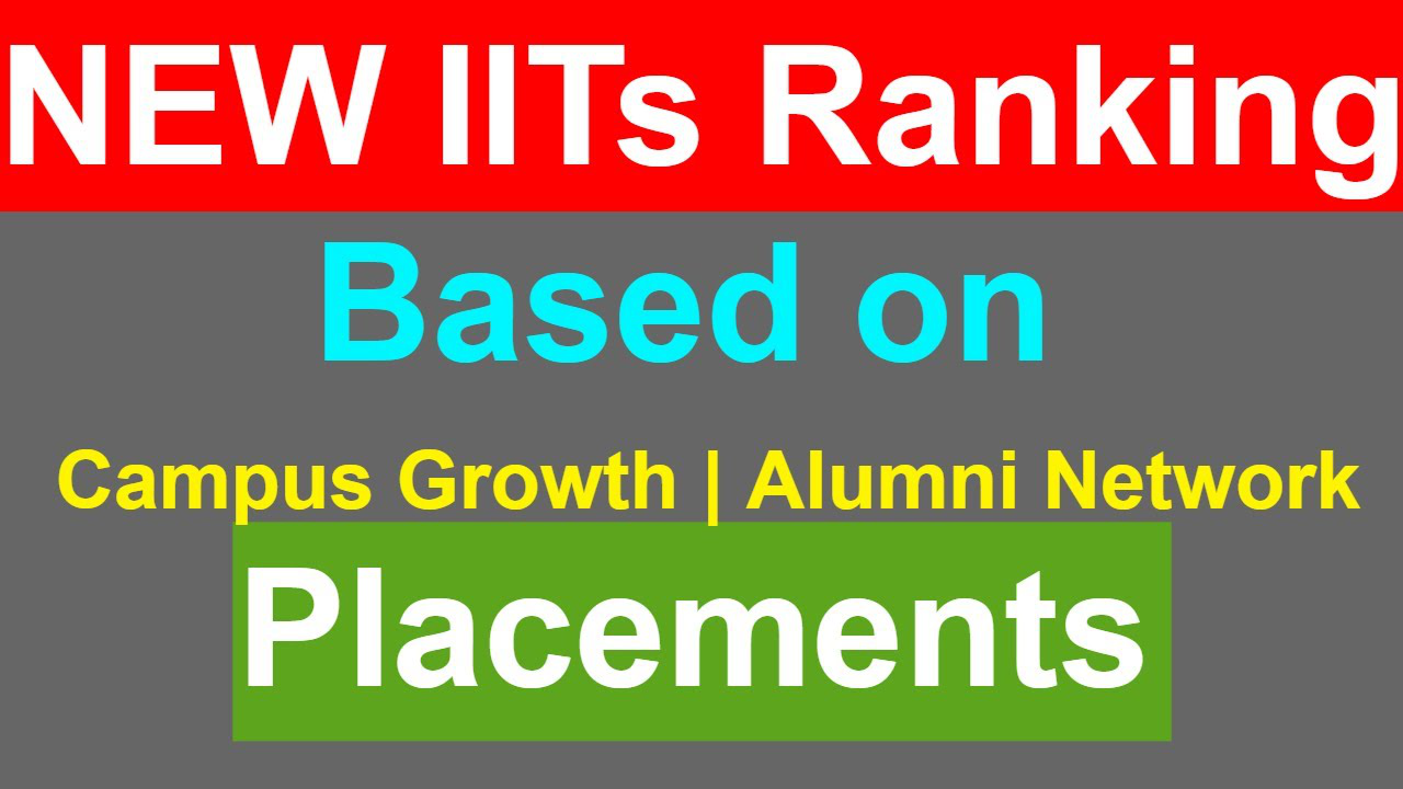Ranking of New IITs in India   Based on Placements, Alumni Network, Campus Growth