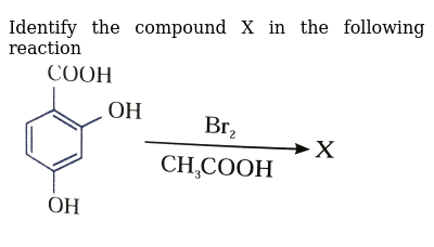 "Identify the compound X in the following reaction <br>  <img src=""https://d10lpgp6xz60nq.c"