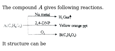 """The compound `A` gives following reactions. <br> <img src=""""https://d10lpgp6xz60nq.cloudfront.net/physics_images/NAR_CHM_XII_V06_C03_E01_079_Q01.png"""" width=""""80%""""> <br> It structure can be"""