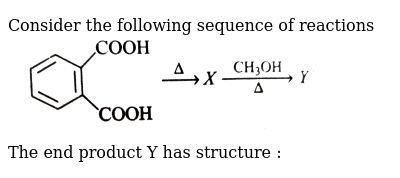 """Consider the following sequence of reactions <br> <img src=""""https://d10lpgp6xz60nq.cloudfront.net/physics_images/GRB_CHM_ORG_HP_C07_E01_129_Q01.png"""" width=""""80%""""> <br> The end product Y has structure :"""
