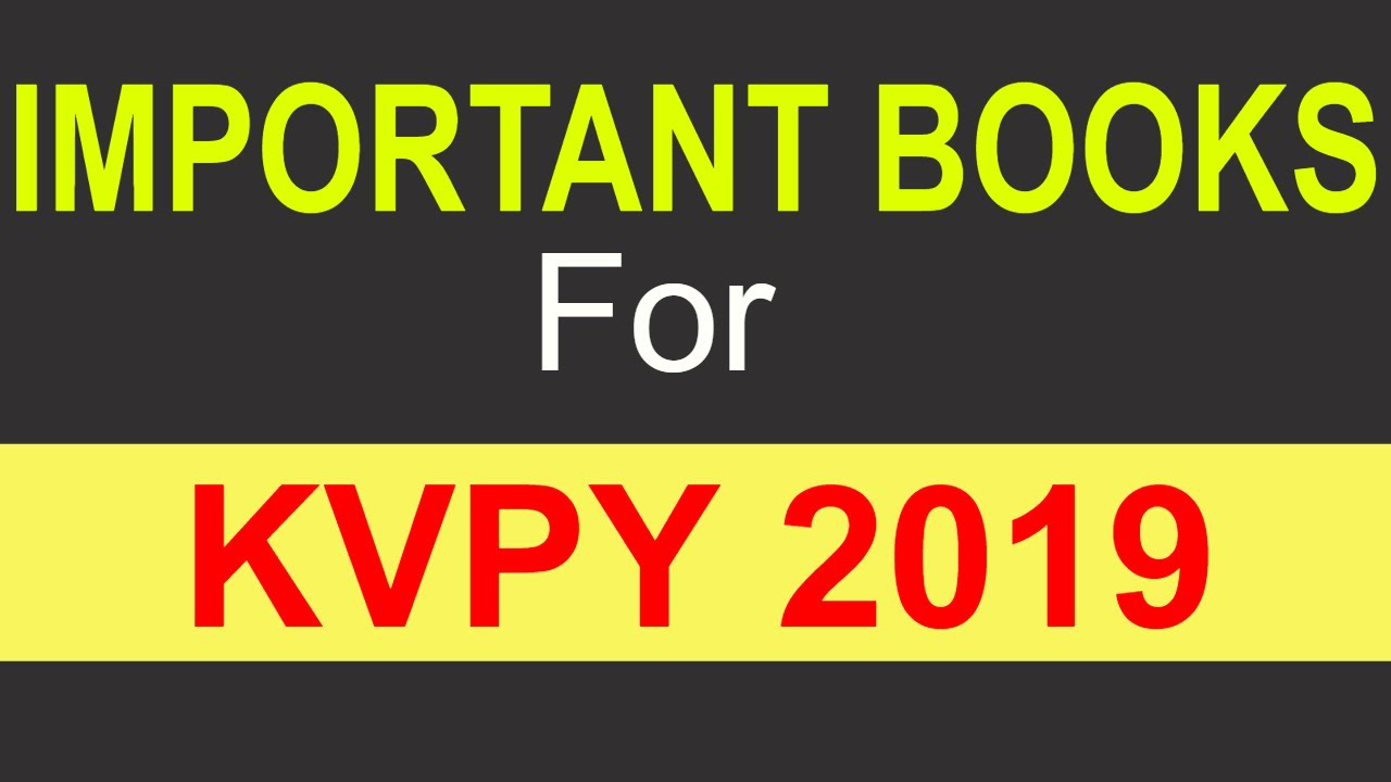 Important Books For KVPY 2019