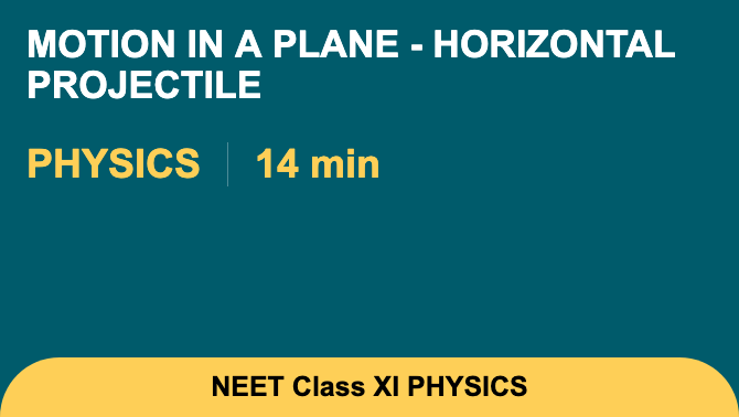 Motion In A Plane - Horizontal Projectile