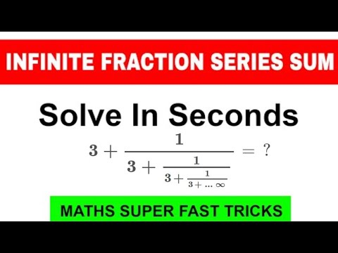 HOW TO FIND THE SUM OF INFINITE FRACTION SERIES | Series - Part 2 | Short Tricks | SSC,IBPS,RAILWAYS
