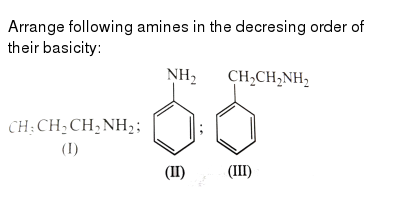 """Arrange following amines in the decresing order of their basicity: <br> <img src=""""https://"""