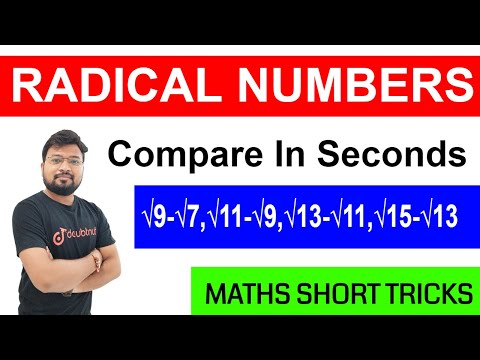 How To Compare Radical Numbers | Maths Short Tricks For SSC, IBPS, RAILWAYS, NTPC, SBI PO |हिंदी में