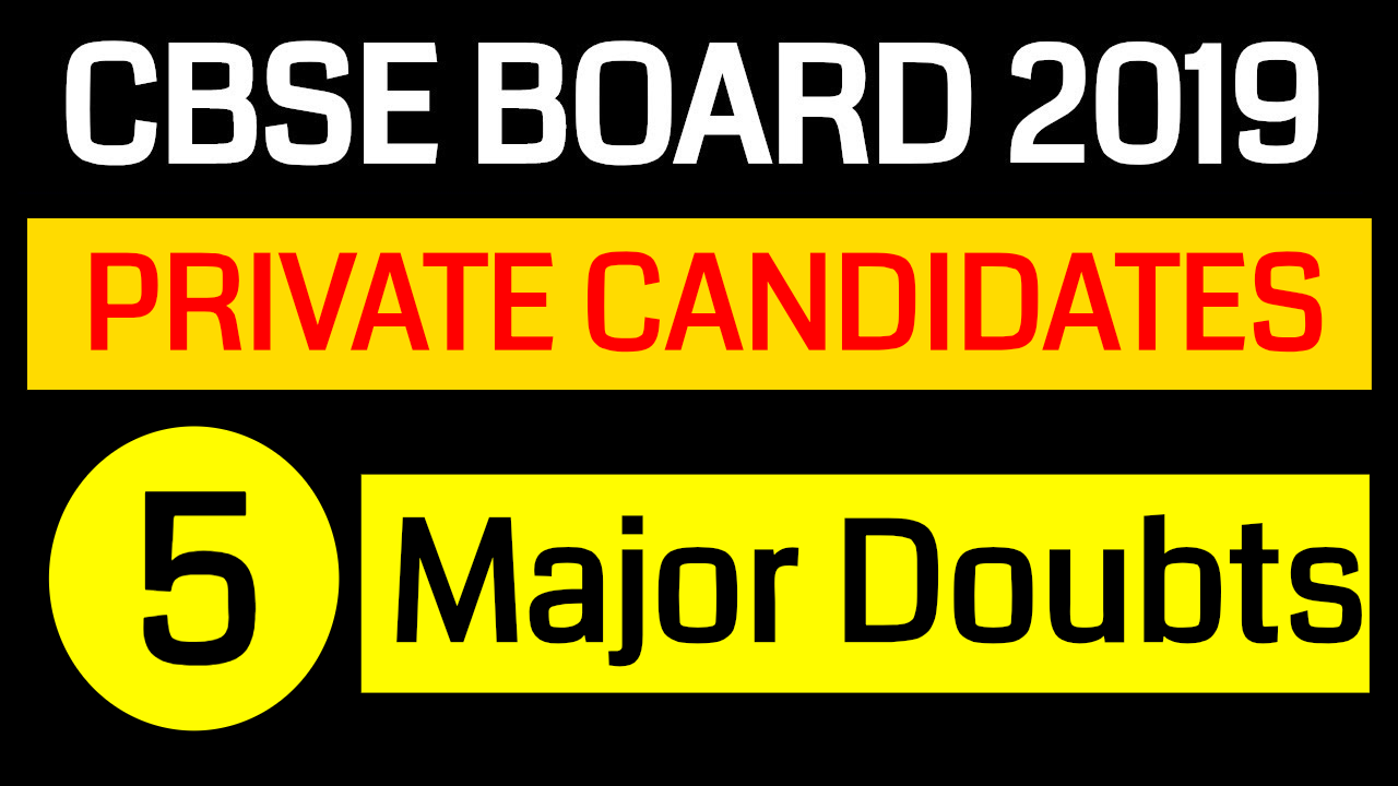 CBSE Board Private Registration || Improvement and Compartment ||  5 Major Doubts