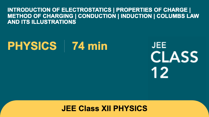 Introduction of electrostatics | Properties of charge | Method of charging | Conduction |