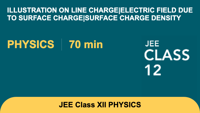 Illustration on line charge|Electric field due to surface charge|Surface charge density