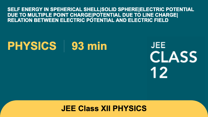 Self energy in speherical shell|Solid sphere|Electric potential due to multiple point char