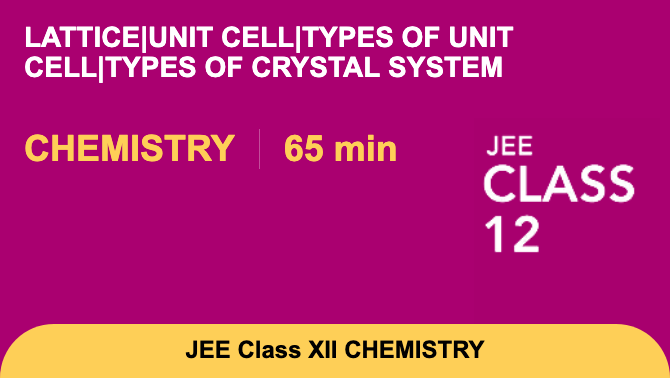 Lattice|Unit cell|Types of unit cell|Types of crystal system