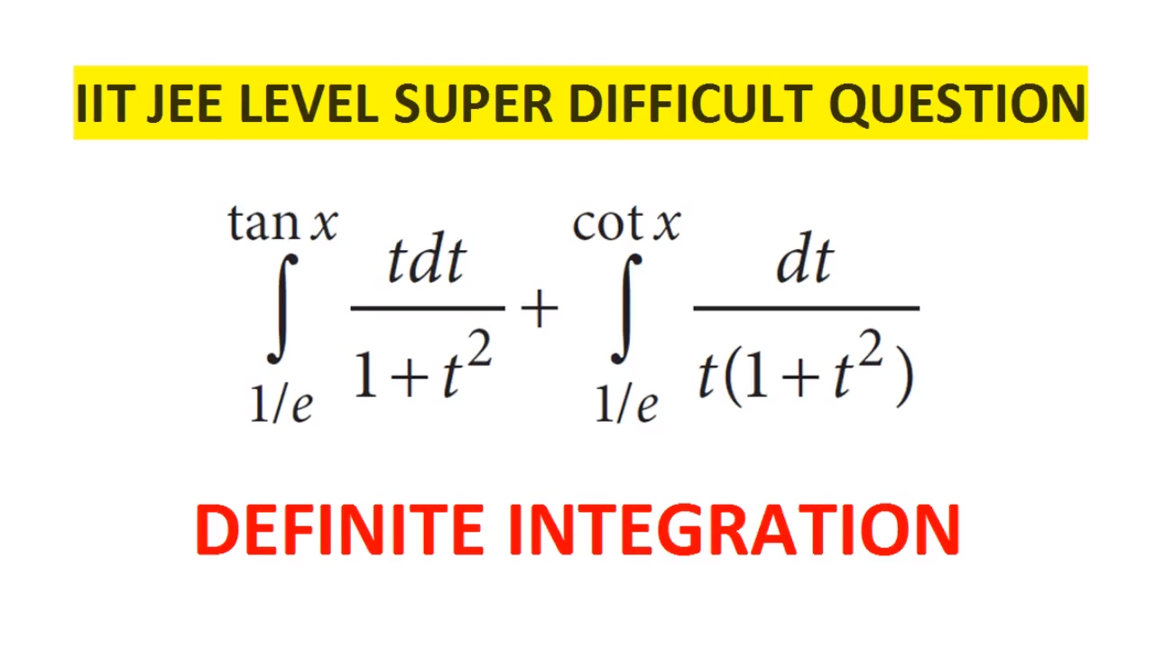 IIT JEE Level Difficult Integration Question || Definite Integration