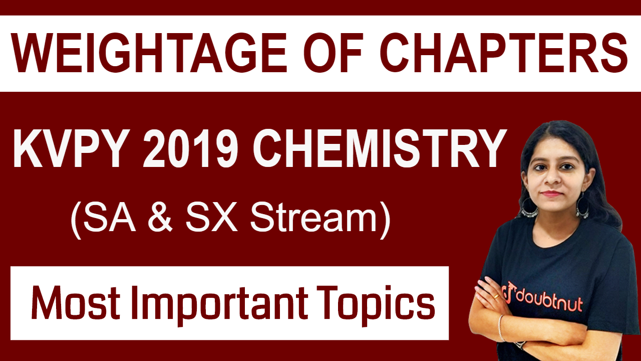 Weightage of Chapters in KVPY Chemistry ( SA and SX Stream) | Important Chapters for KVPY Chemistry