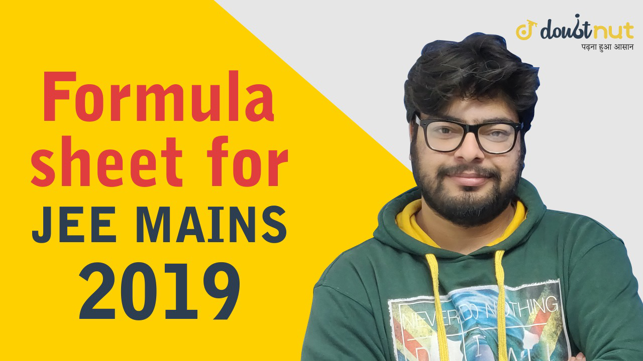 JEE Mains 2019 | PDF of Most Important Formulas Of Maths
