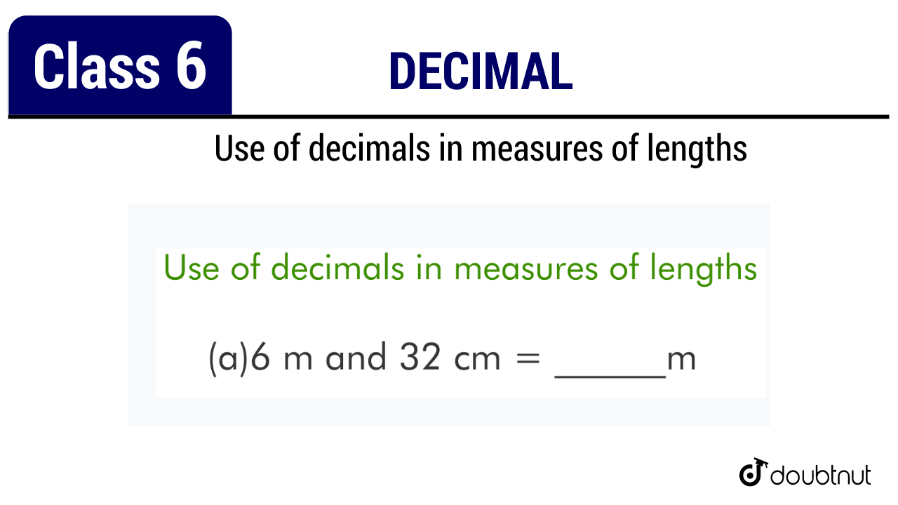 Use of decimals in measures of lengths