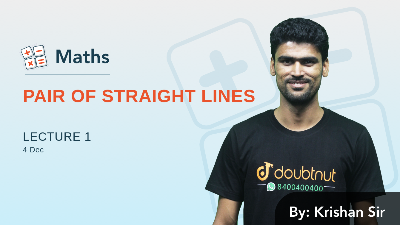 Equation Of Pair Of Straight Lines