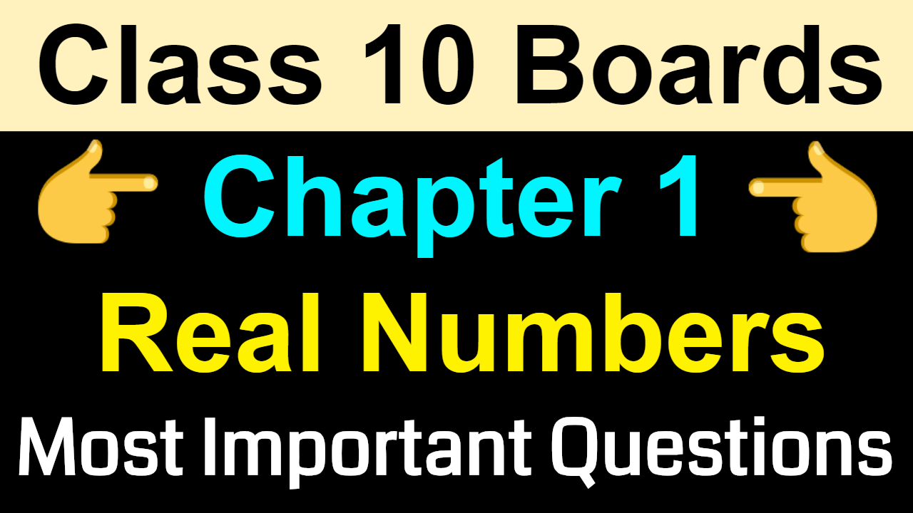 Class 10 Maths Most Important Questions | Real Numbers | NCERT Class 10 Chapter 1