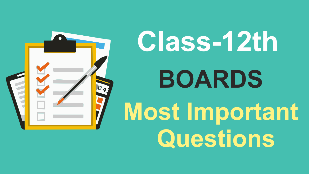Most Important Questions Of Class 12 Boards Maths | CBSE & State Boards