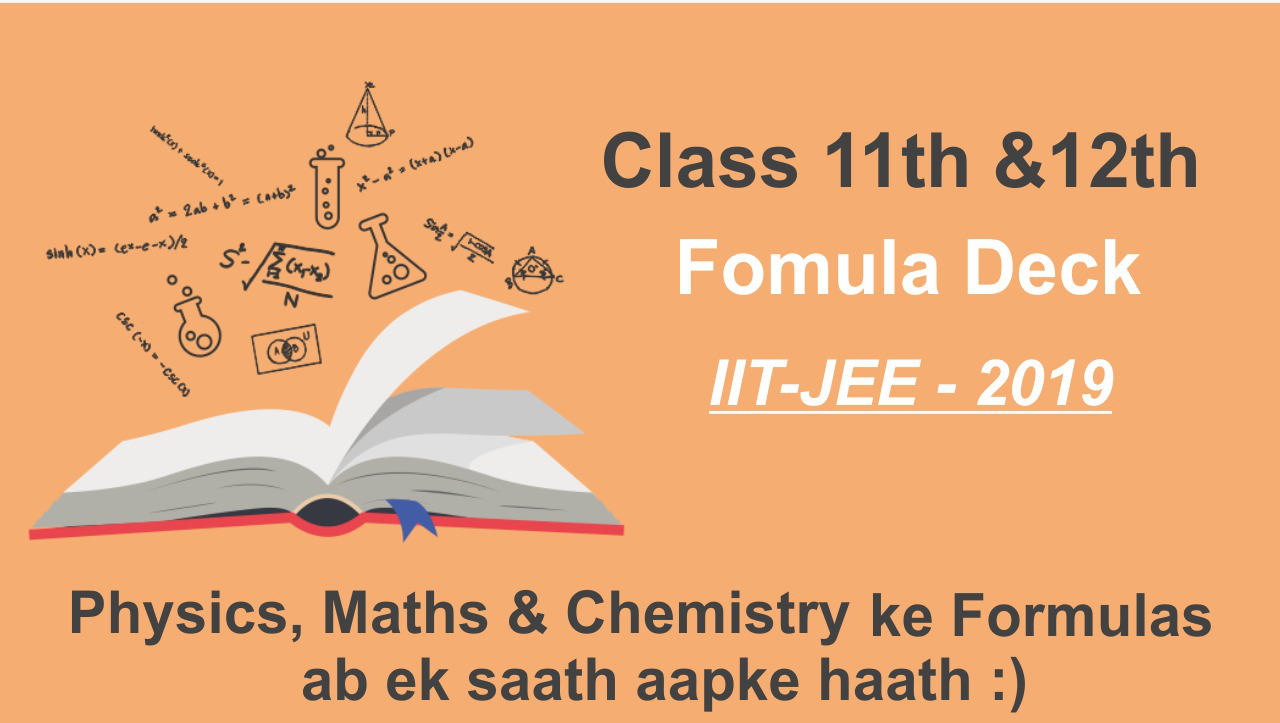 All Formulas of Maths, Physics & Chemistry For JEE Mains | Class 11 & 12