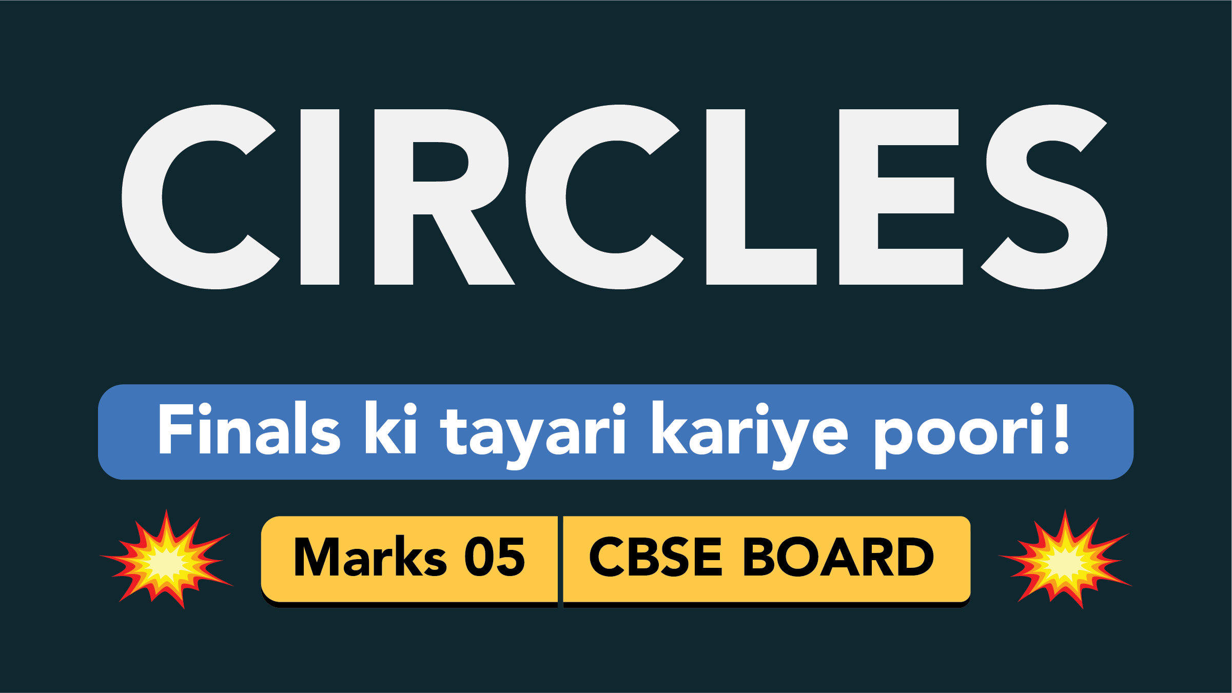 CBSE Board Class 9 CIRCLES || Weightage and Important Topics