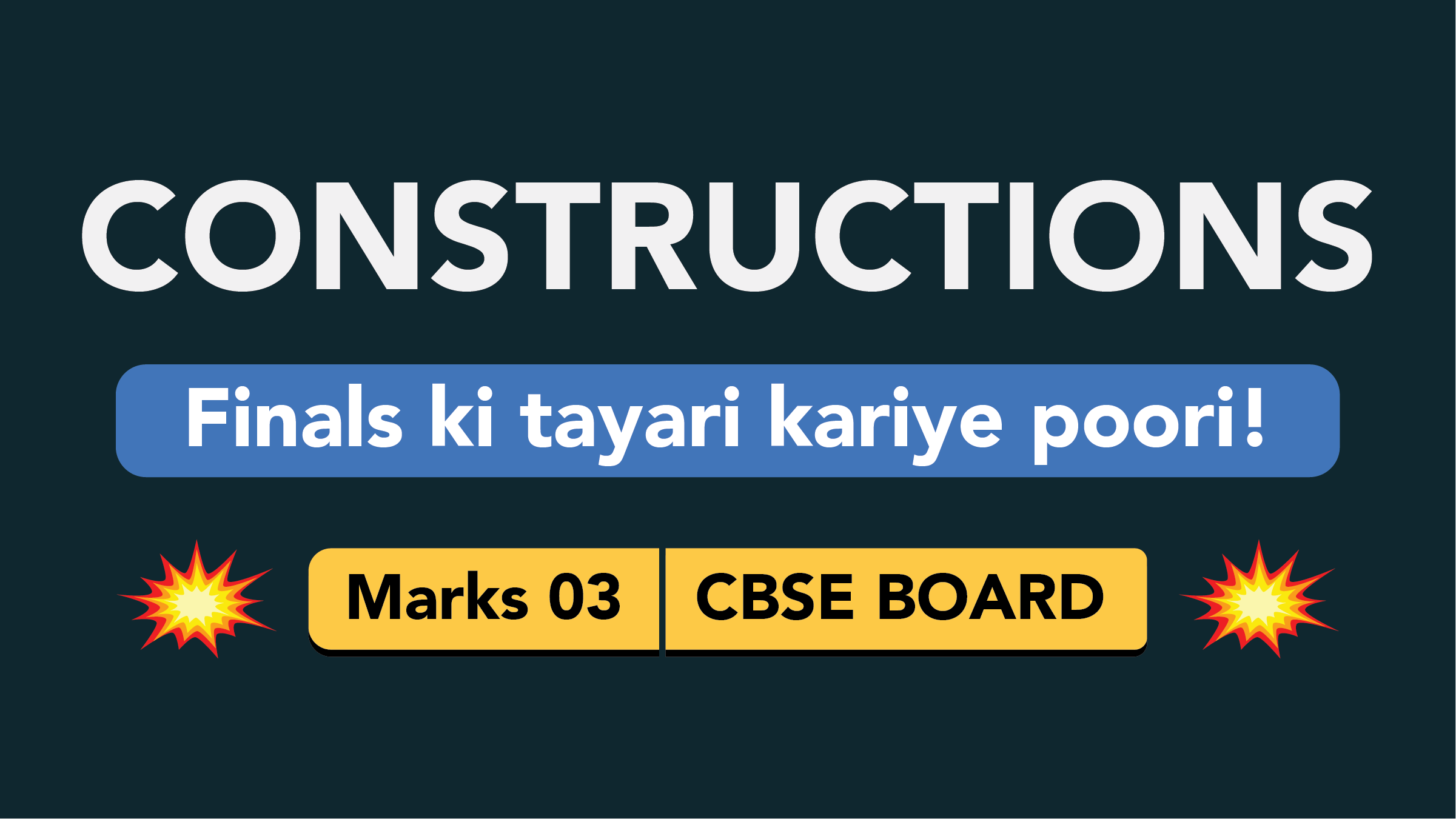 CBSE Board Class 9 CONSTRUCTIONS || Weightage and Important Topics