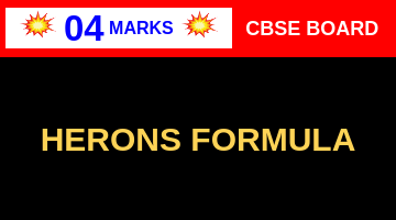 CBSE Board Class 9 HERONS FORMULA || Weightage and Important Topics