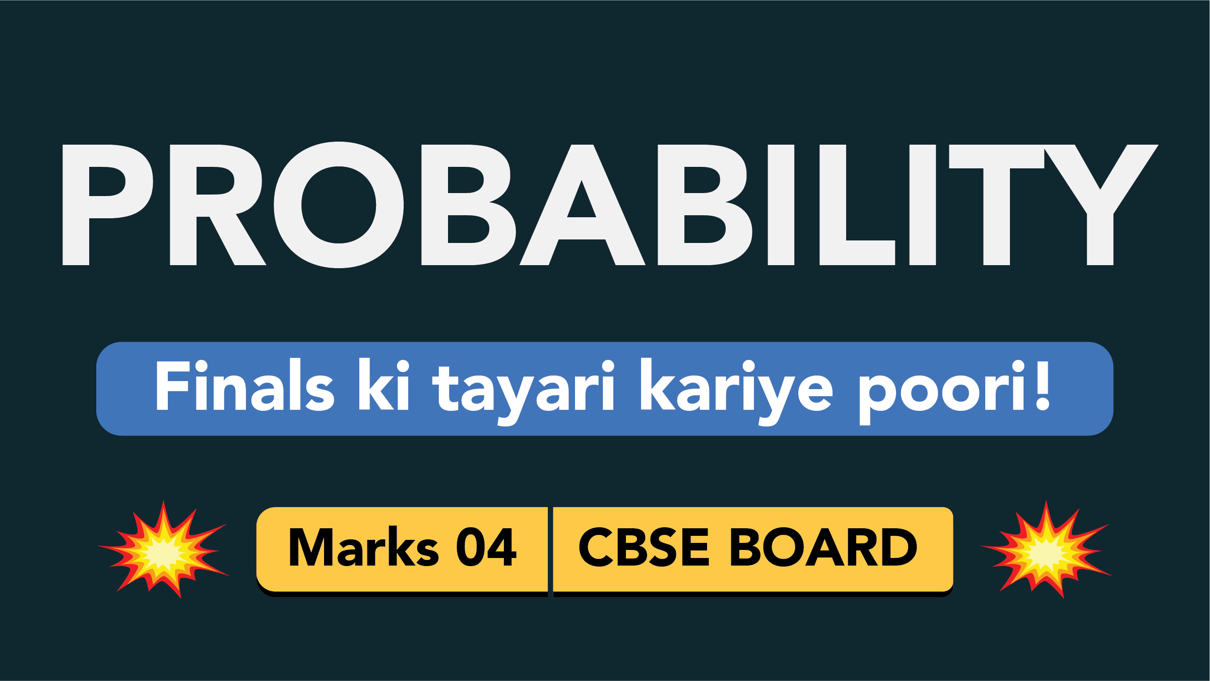 CBSE Board Class 9 PROBABILITY || Weightage and Important Topics