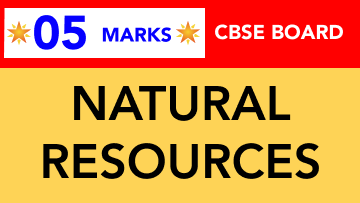 CBSE Board Class 9 NATURAL RESOURCES || Weightage and Important Topics