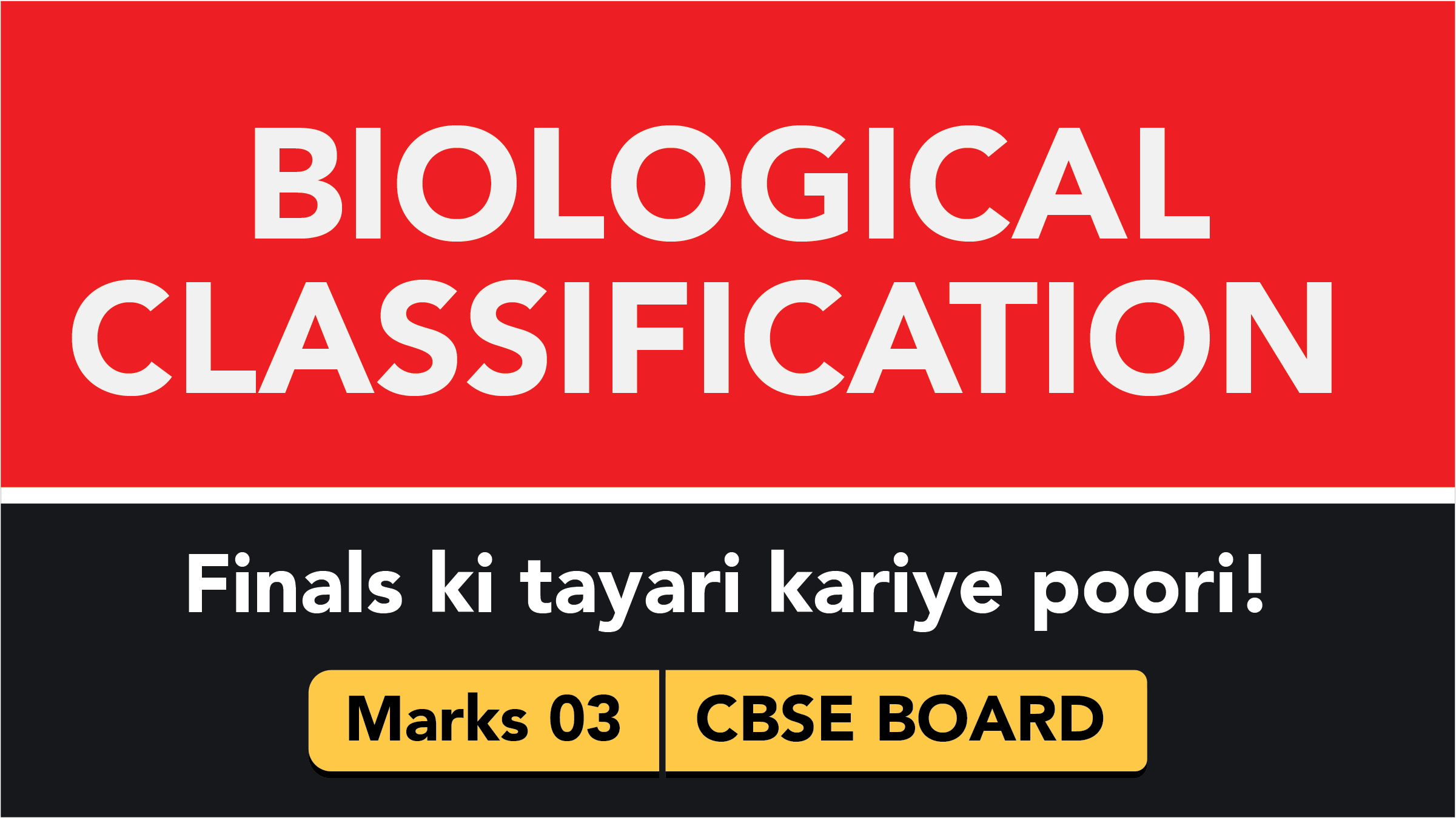 CBSE Board Class 11 BIOLOGICAL CLASSIFICATION || Weightage and Important Topics