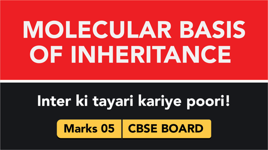 CBSE Board Class 12 MOLECULAR BASIS OF INHERITANCE || Weightage and Important Topics