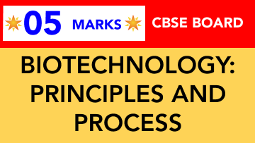 CBSE Board Class 12 BIOTECHNOLOGY :PRINCIPLES AND PROCESS || Weightage and Important Topics