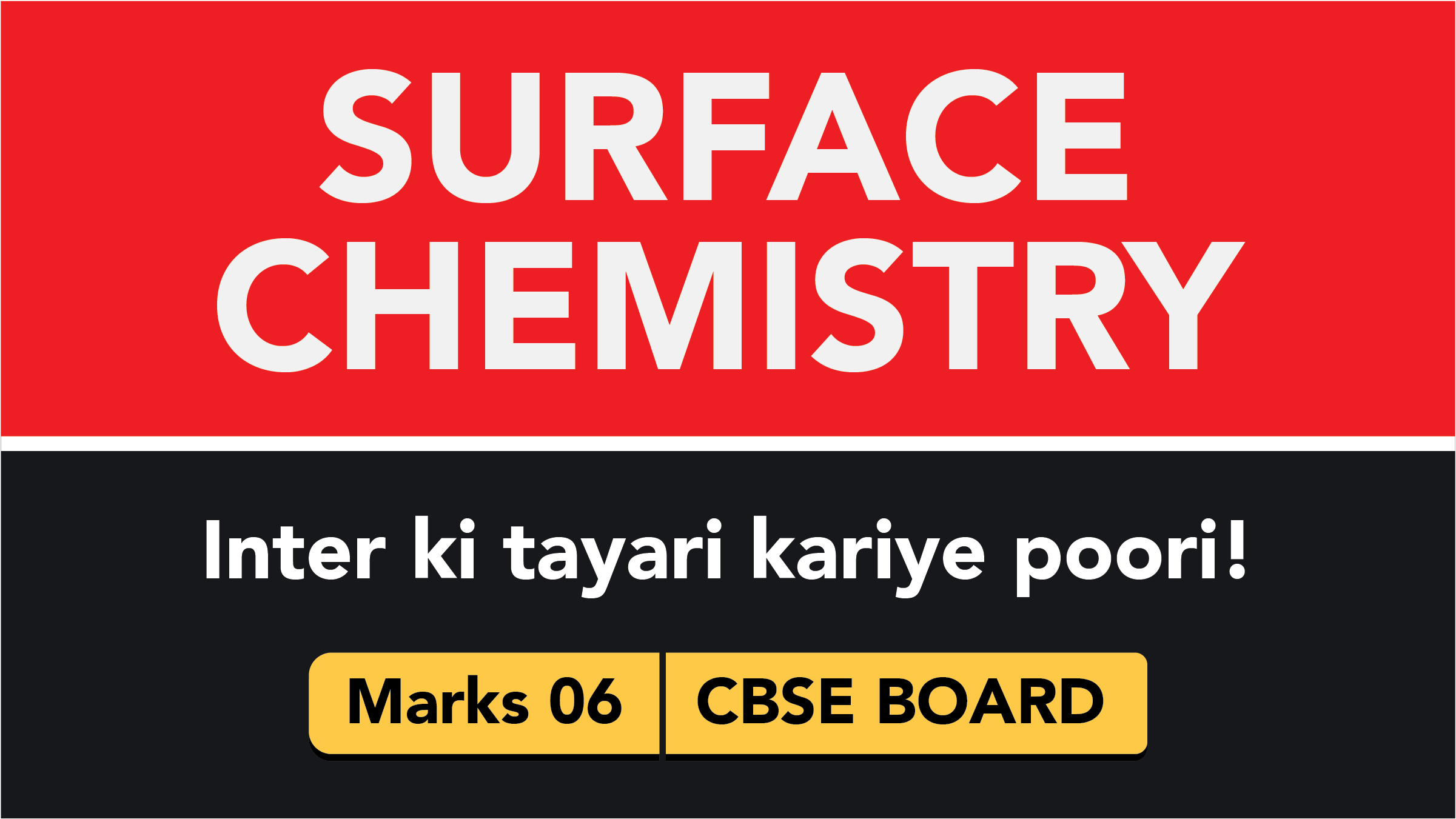 CBSE Board Class 12 SURFACE CHEMISTRY    Weightage and Important Topics