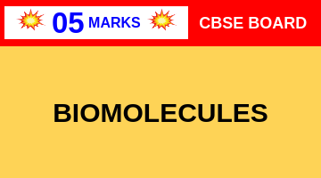 CBSE Board Class 12 BIOMOLECULES    Weightage and Important Topics