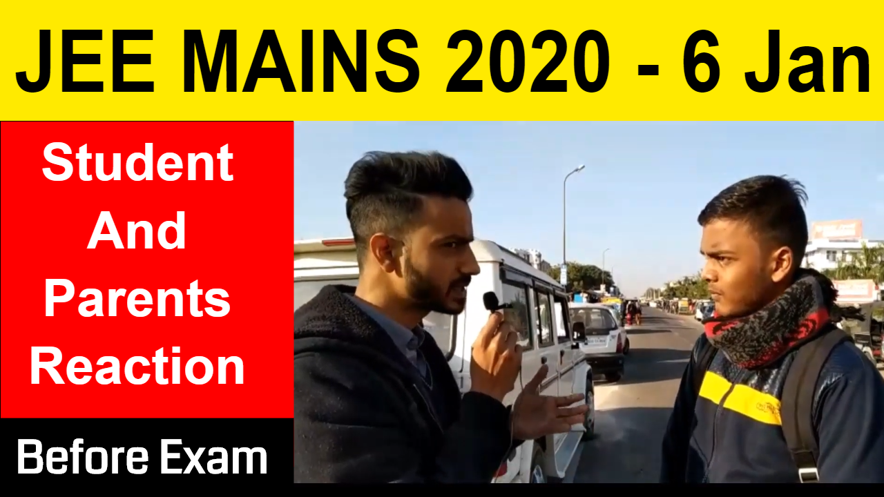JEE Mains 2020 6 January Shift 1 | Parents and Students Reaction at  Exam Centre | Security Check