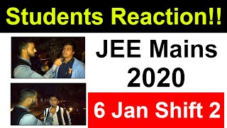 JEE Mains 2020 January - 6 Jan Shift 2 | Students Reaction After Exam