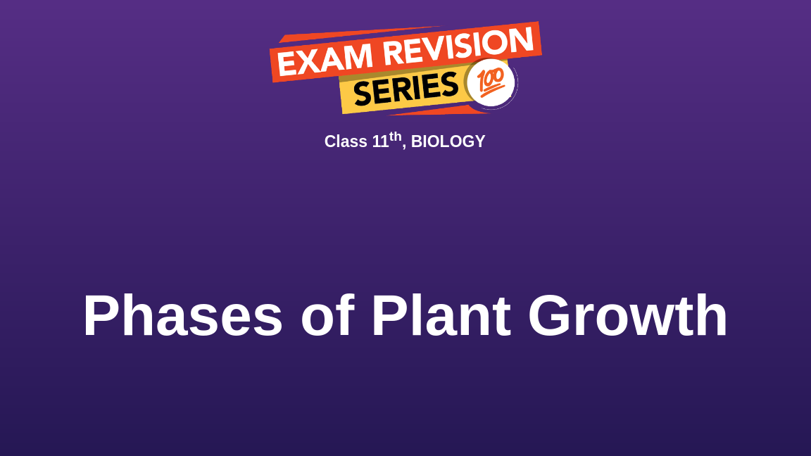 Phases of Plant Growth
