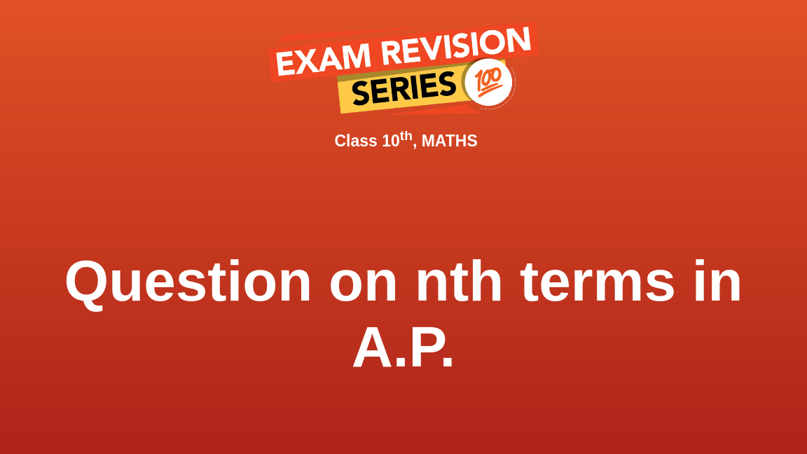 Question on nth terms in A.P.