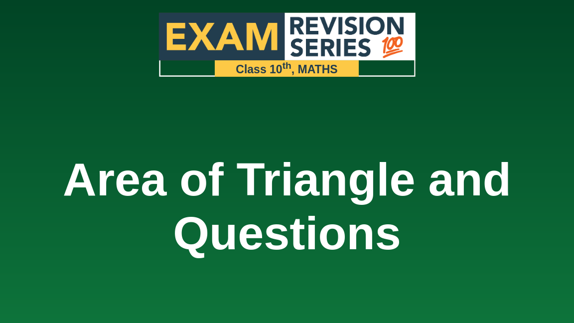 Area of Triangle and Questions