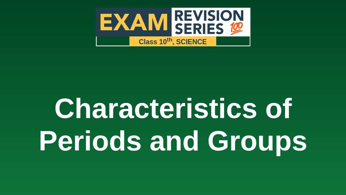 Characteristics of Periods and Groups