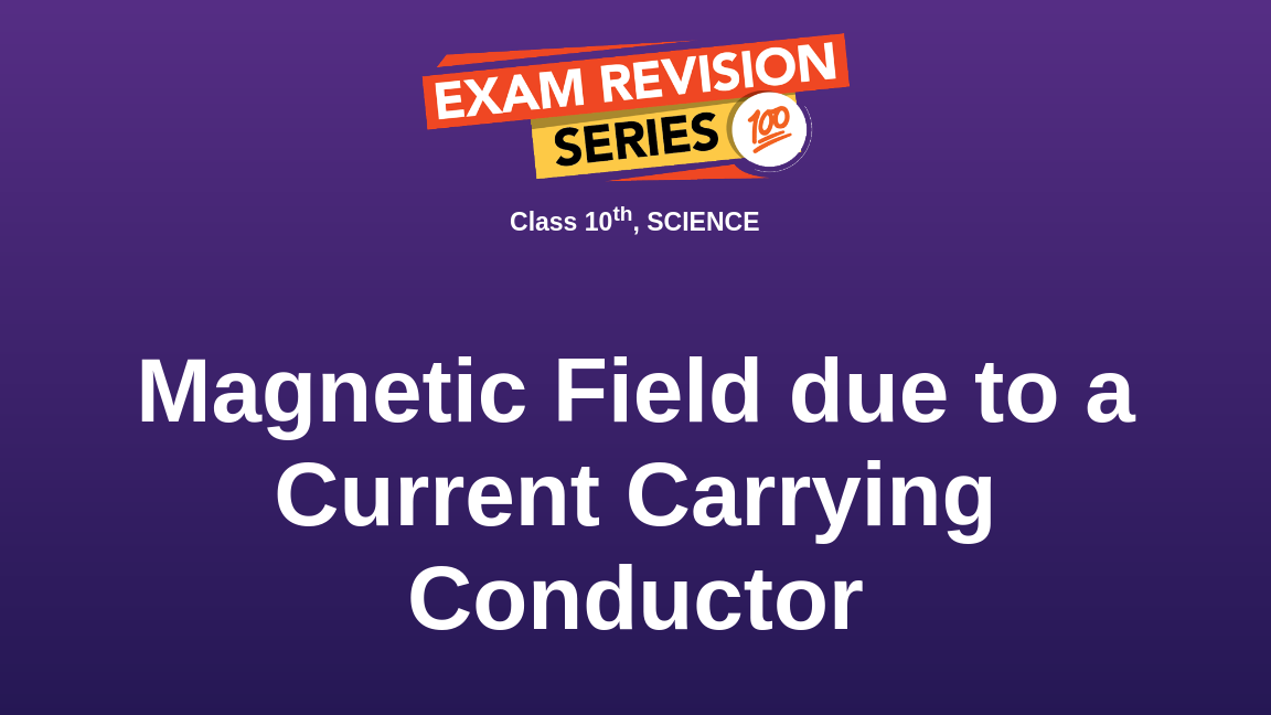 Magnetic Field due to a Current Carrying Conductor