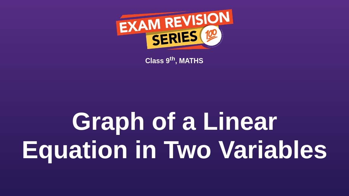 Graph of a Linear Equation in Two Variables