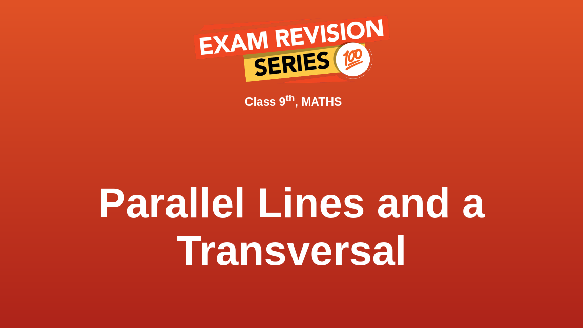 Parallel Lines and a Transversal