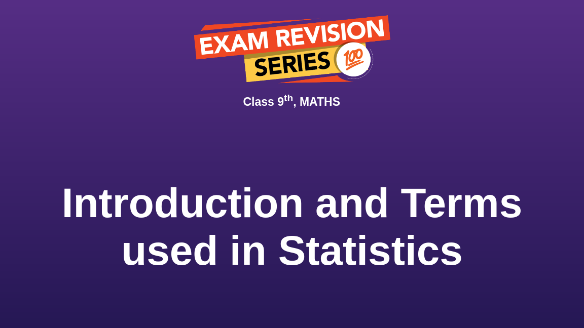 Introduction and Terms used in Statistics