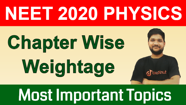 Weightage of Chapters in NEET Physics | Important Chapters of Physics | Study Plan for NEET 2020