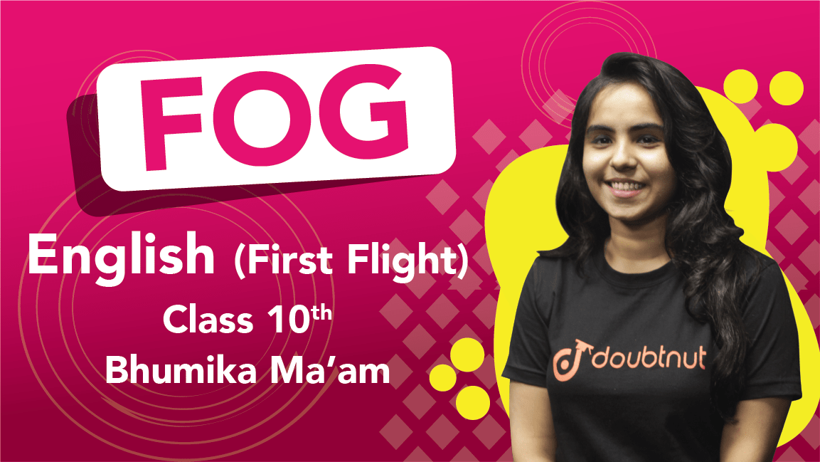 Class 10 English | First Flight - Poem Fog | Important Questions | CBSE Boards Revision