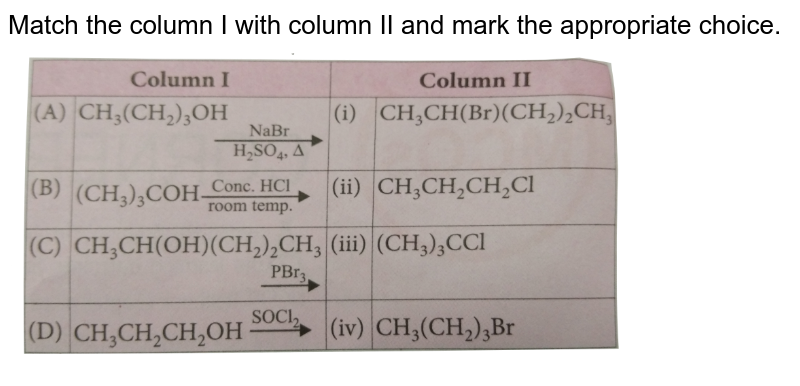 """Match the column I with column II and mark the appropriate choice. <br> <img src=""""https://d10lpgp6xz60nq.cloudfront.net/physics_images/NCERT_OBJ_FING_CHE_XII_C10_E01_013_Q01.png"""" width=""""80%"""">"""