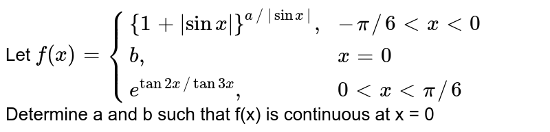 """Let `f(x) = {{:({1 + 