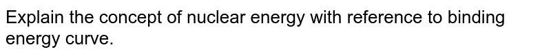 Explain the concept of nuclear energy with reference to binding energy curve.
