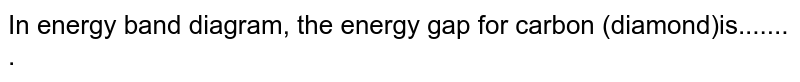 In energy band diagram, the energy gap for carbon (diamond)is....... .